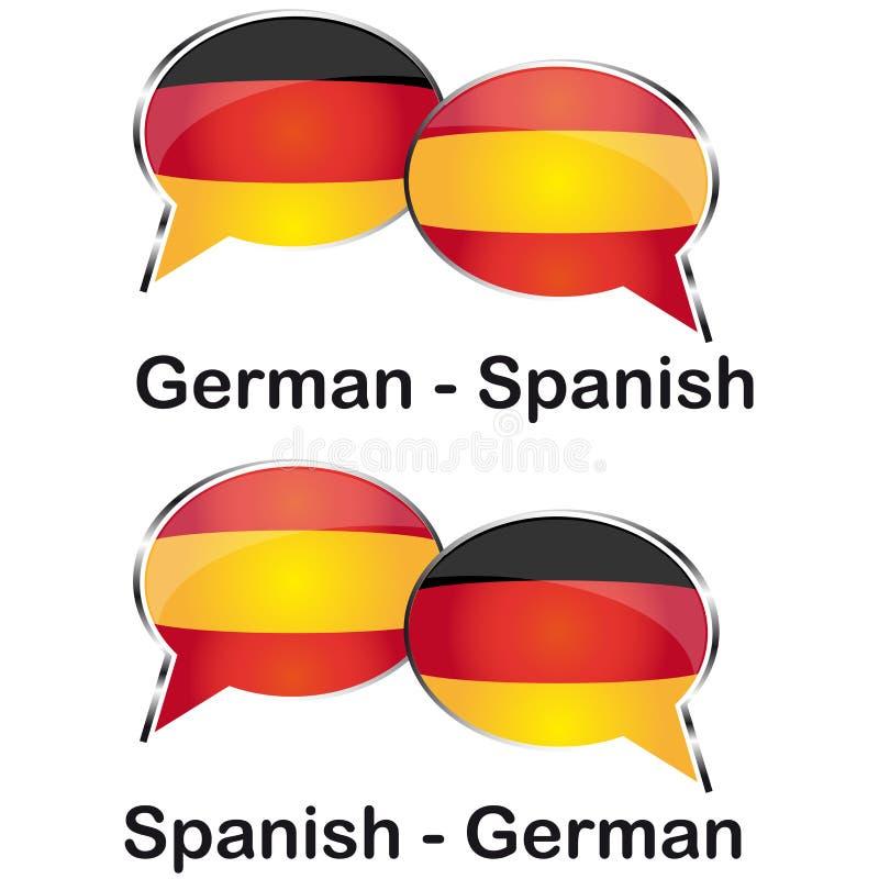 Немецкий испанский переводчик стоковое фото rf