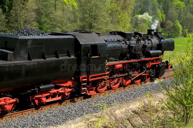 немецкий исторический поезд пара стоковое изображение