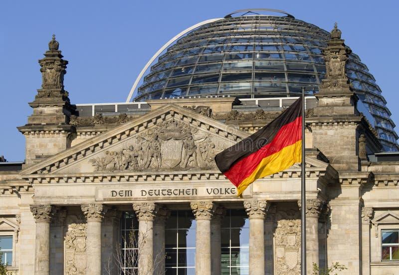немецкий парламент дома стоковое фото rf