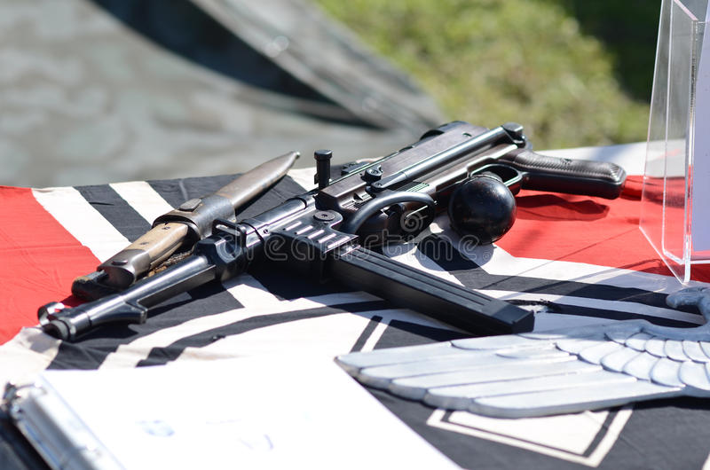 Немецкий пистолет-пулемет. MP40 стоковые фотографии rf