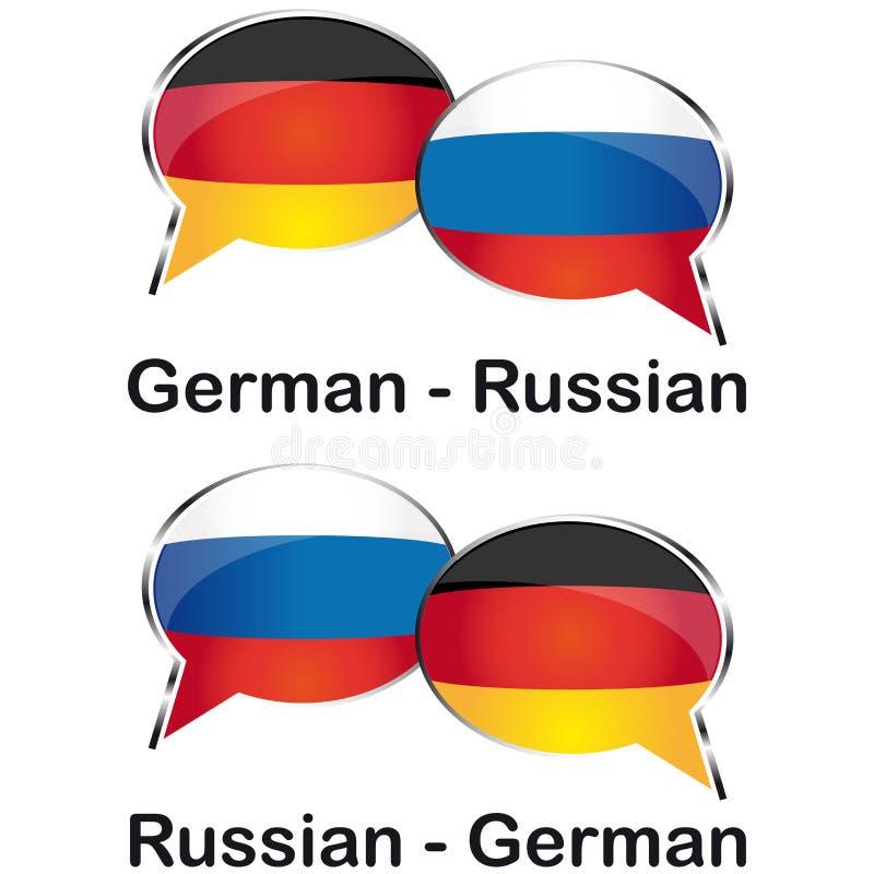 Немецкий русский переводчик стоковая фотография