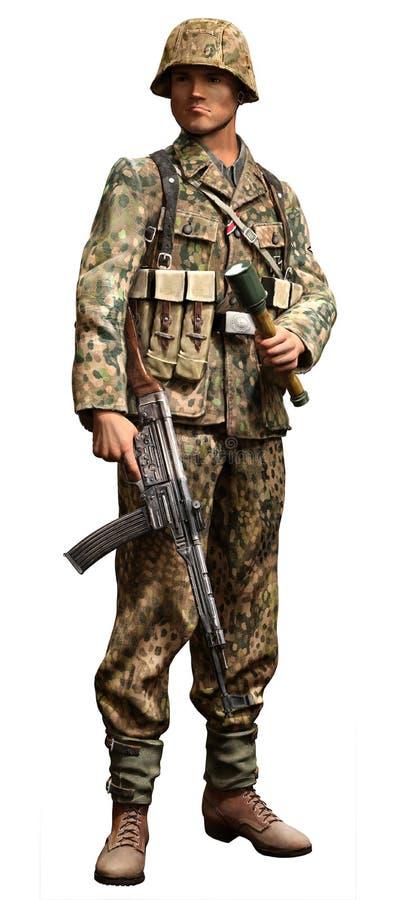 Немецкий солдат SS стоковые изображения