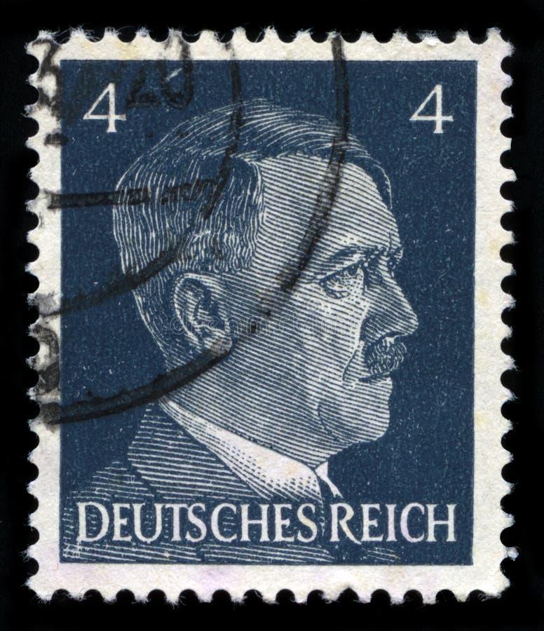 Немецкий штемпель почтового сбора рейха от 1941 стоковое фото