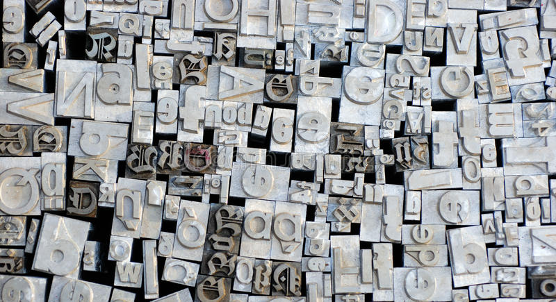 немецкий letterpress помечает буквами старую стоковое изображение rf