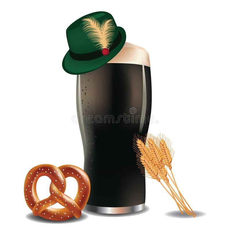 Немецкое пиво иллюстрация вектора