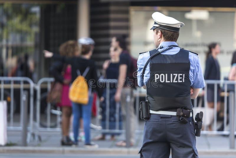 Немецкое полицейский стоковое фото