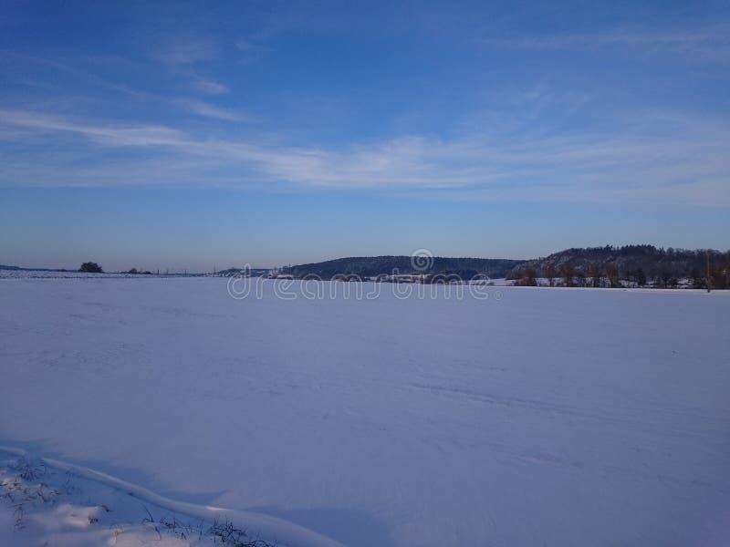 Немецкое winterscape стоковая фотография rf