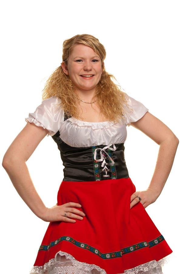 немецкой белизна изолированная девушкой стоковые изображения
