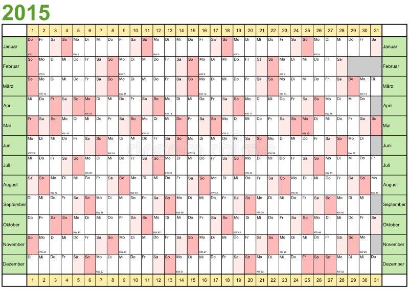 немец плановика 2015 год линейный иллюстрация вектора