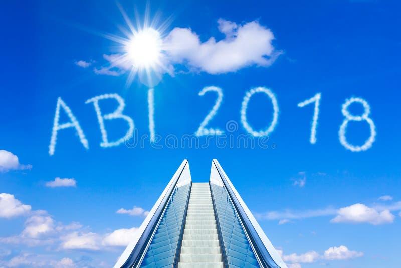 Немец abitur 2018 abi неба эскалатора стоковое изображение