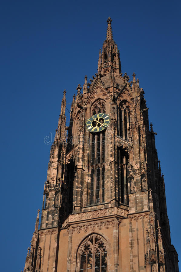 немец dom frankfurt собора стоковое фото