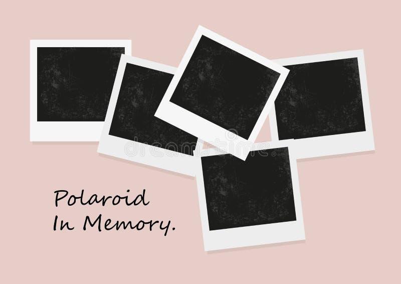 Немедленное фото на предпосылке цвета Поляроидное фото, старый поляроид иллюстрация вектора