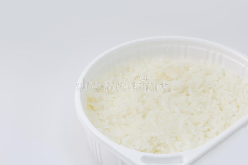 Немедленный рис от изолята Таиланда на белой предпосылке стоковые фото