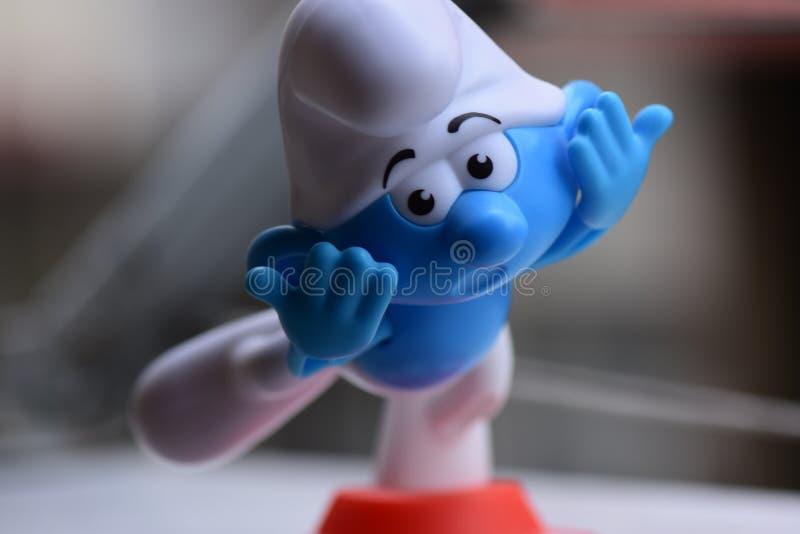 Немногое голубое Smurfs, Smurf стоковые фото