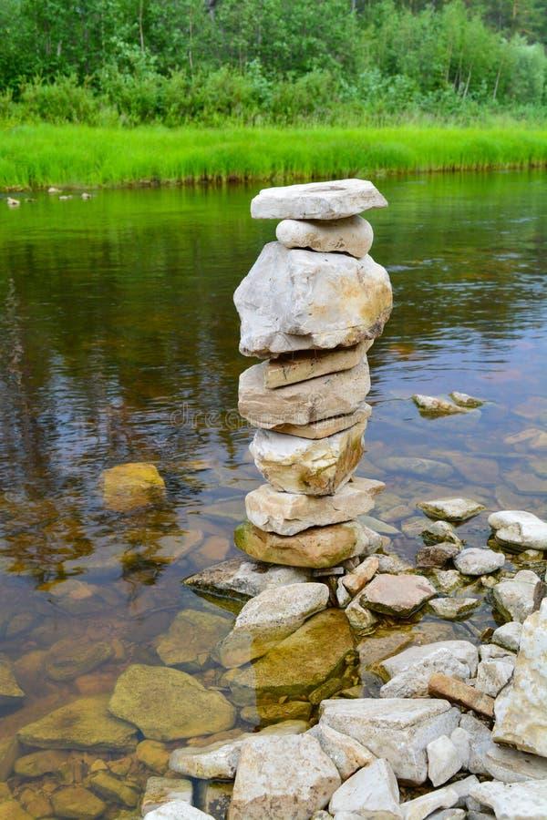 Немногое каменная башня стоковая фотография rf