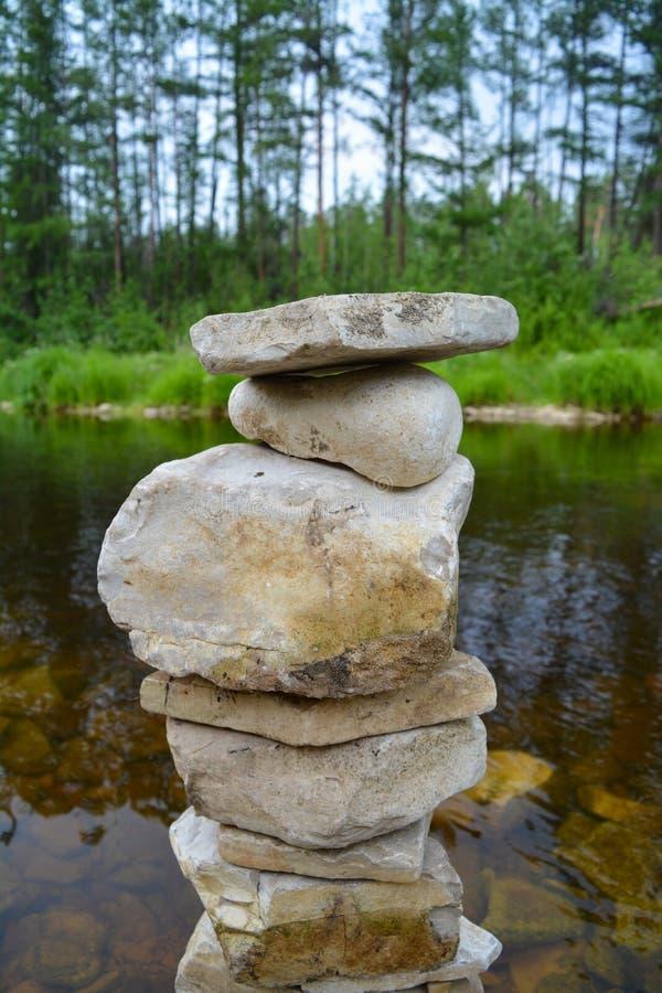 Немногое каменная башня стоковые фотографии rf