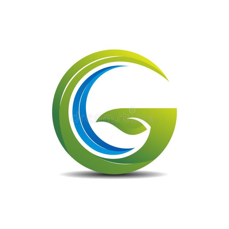 Немногое концепция логотипа ОБЩЕГО РУКОВОДСТВА зеленая иллюстрация вектора