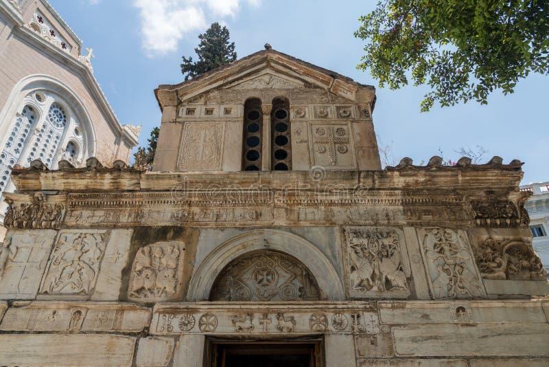 Немногое метрополия собором в Афина стоковая фотография