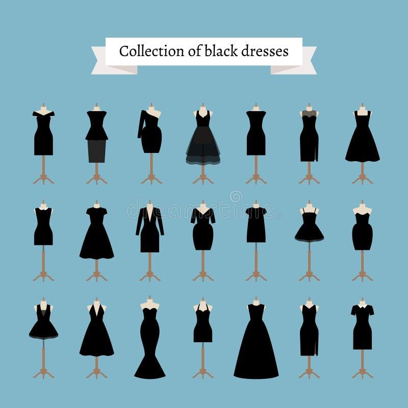 Немногое черные платья иллюстрация штока