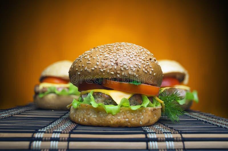 Немного бургеров с говядиной стоковое изображение