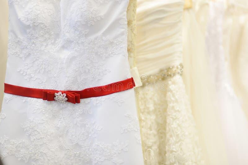 Немного красивых платьев свадьбы стоковая фотография