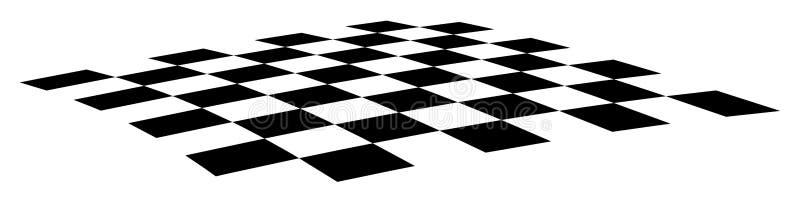 Немножко изогнутая шахматная доска бесплатная иллюстрация