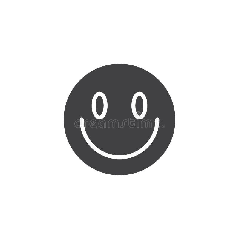 Немножко усмехаясь значок вектора emoji стороны иллюстрация штока