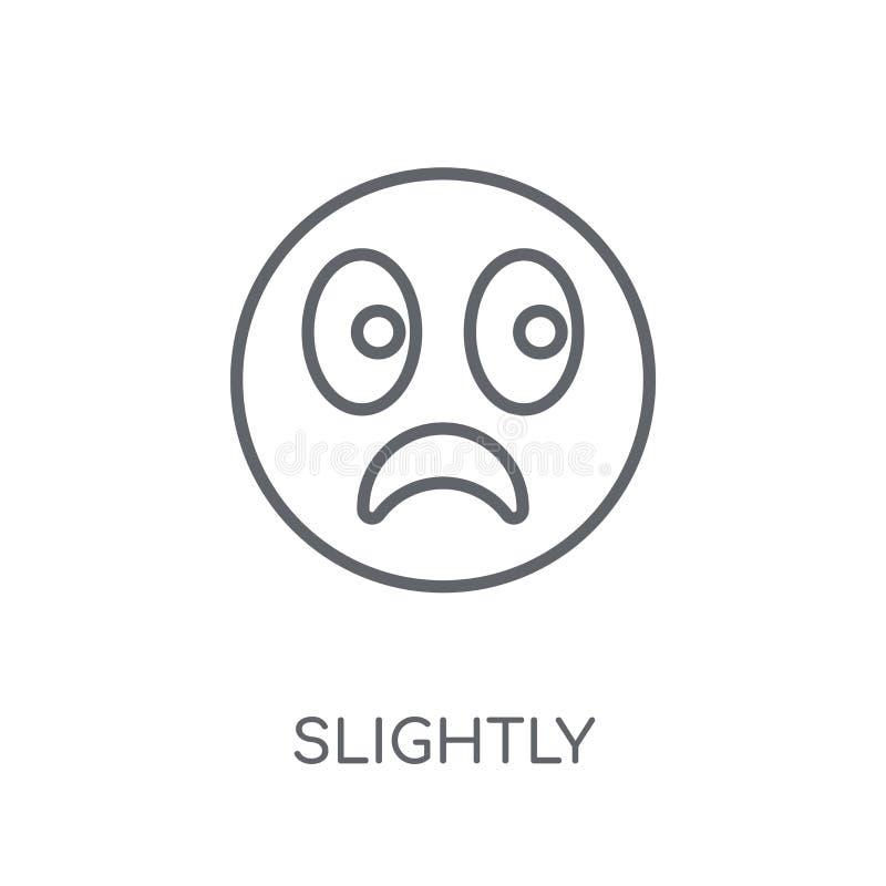 Немножко хмуриться значок emoji линейный Современный план немножко для иллюстрация вектора