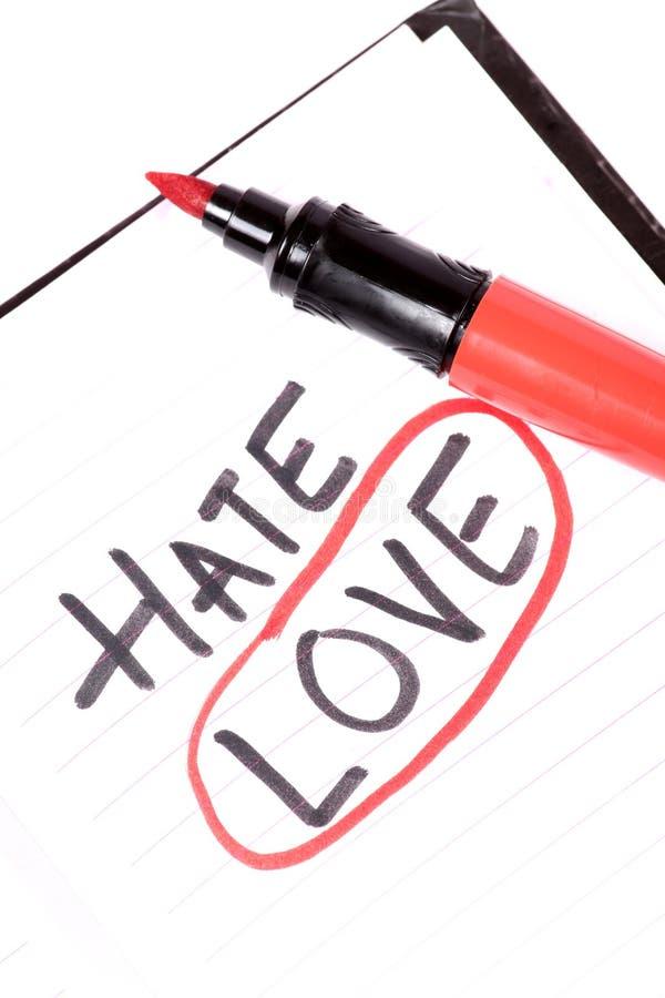 Ненависть или влюбленность стоковые изображения rf