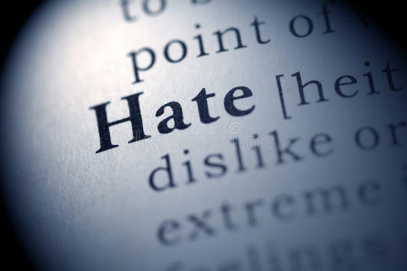 ненависть стоковое изображение rf