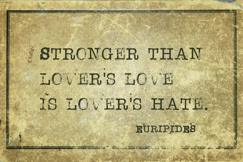 Ненависть Eur любовников стоковая фотография rf