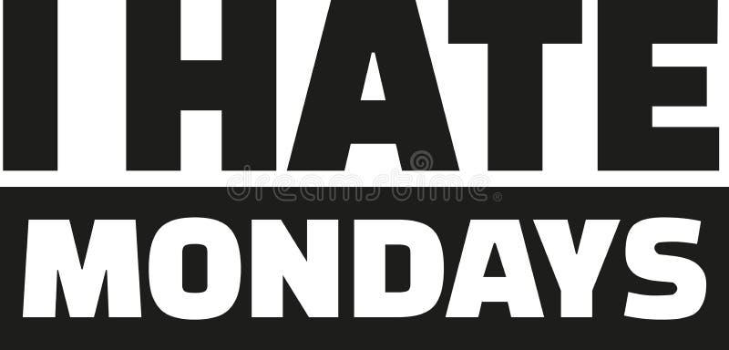 ненависть i понедельники иллюстрация штока