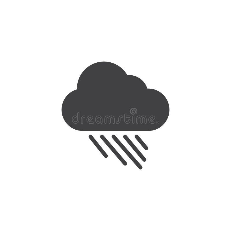Ненастный значок вектора погоды иллюстрация вектора