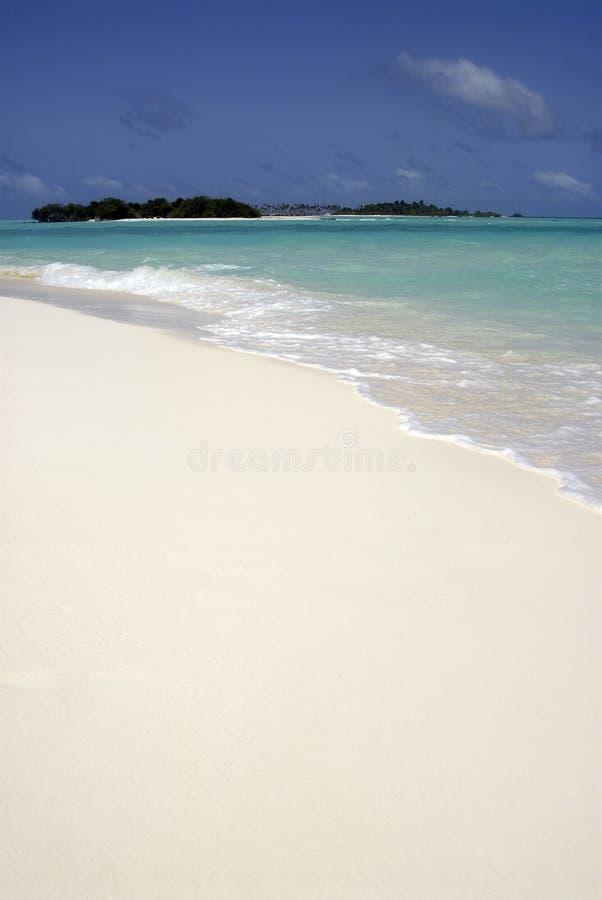 необитаемый остров maldivian стоковые фото