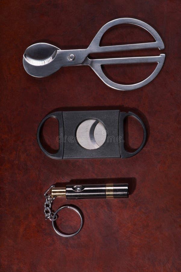 Необходимые вещи для сигар стоковое изображение rf