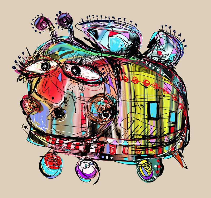 Необыкновенная тоска и глупая шальная пчела иллюстрация штока