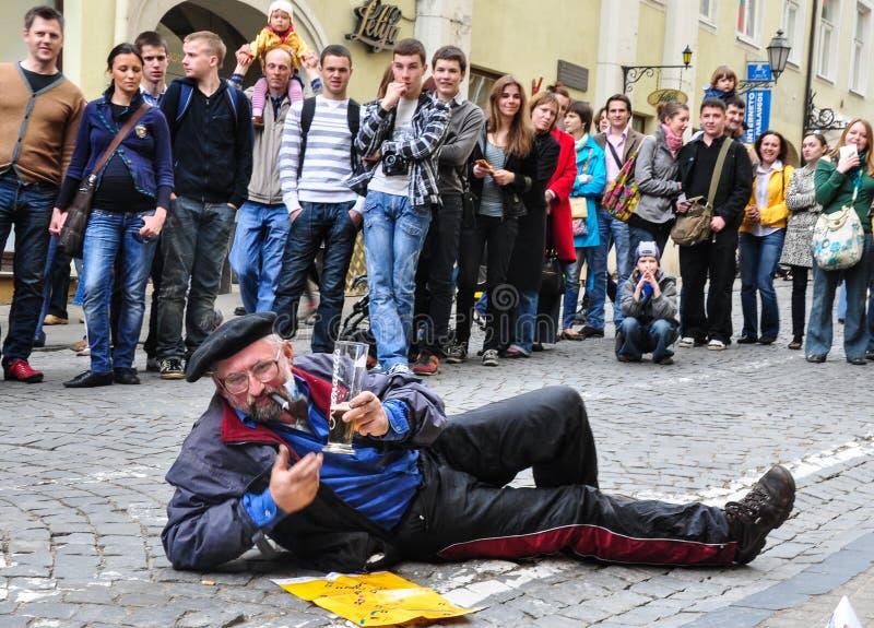 Необыкновенные выражения на улице стоковая фотография rf