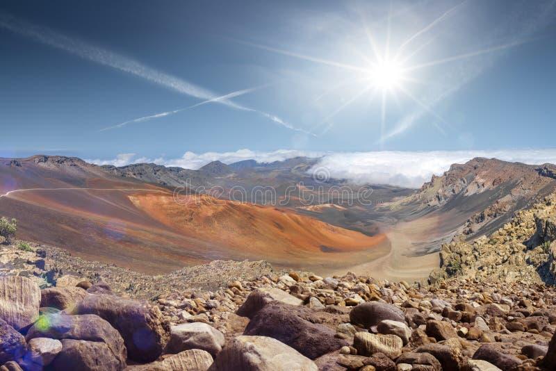 Необыкновенный яркий ландшафт от вершины vulcan стоковые фото
