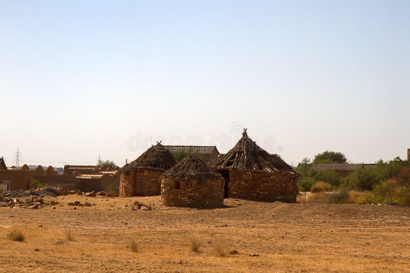 Необычные каменные дома стоковое фото