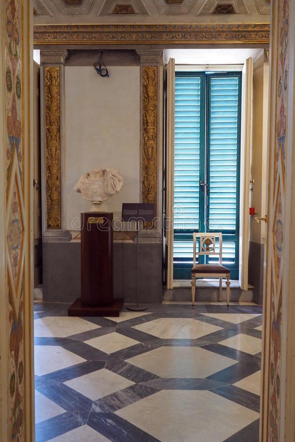 Неоклассический дворец виллы Torlonia в Риме, Италии стоковое фото rf