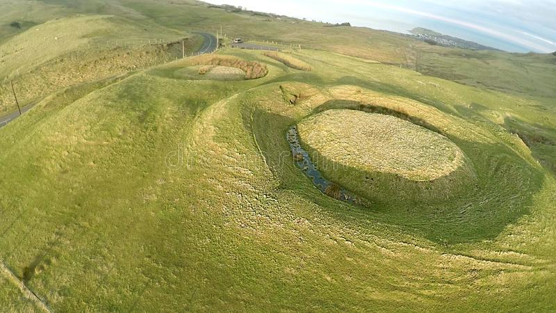 Неолитические курганы на Knockdhu Cairncastle стоковые изображения rf