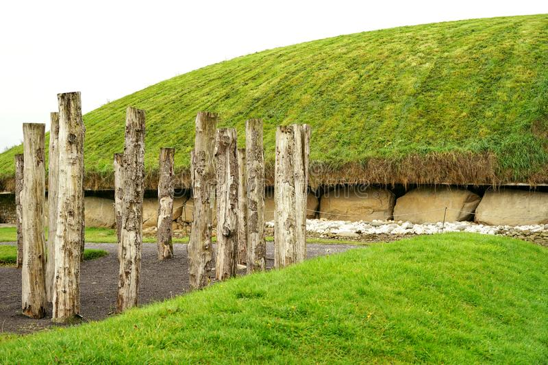 Неолитическое деревянное henge тимберса стоковое фото rf