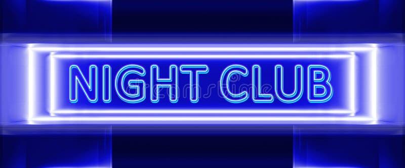 Неоновая вывеска ночного клуба бесплатная иллюстрация