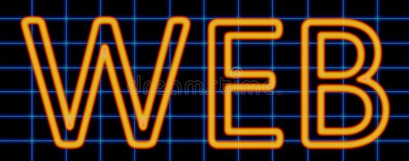 Неоновая вывеска сети иллюстрация вектора