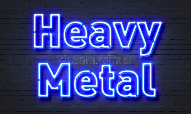 Неоновая вывеска тяжелого метала стоковые фотографии rf