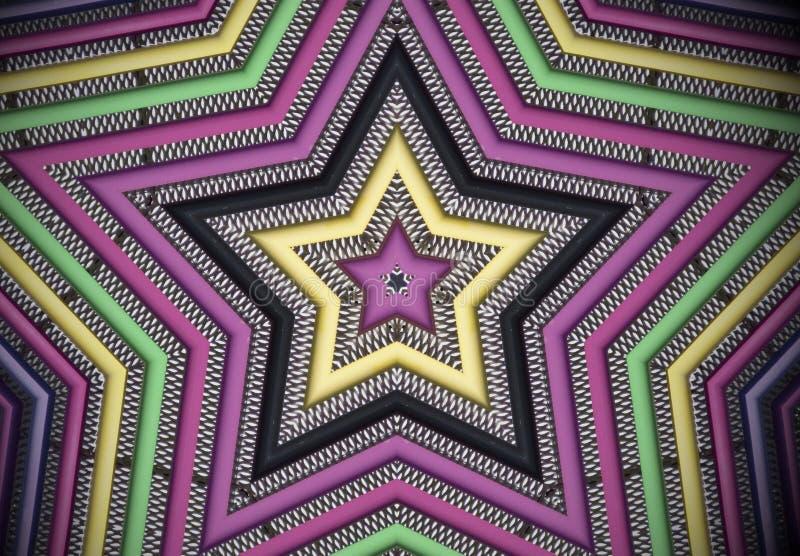 Неоновая звезда стоковое фото rf