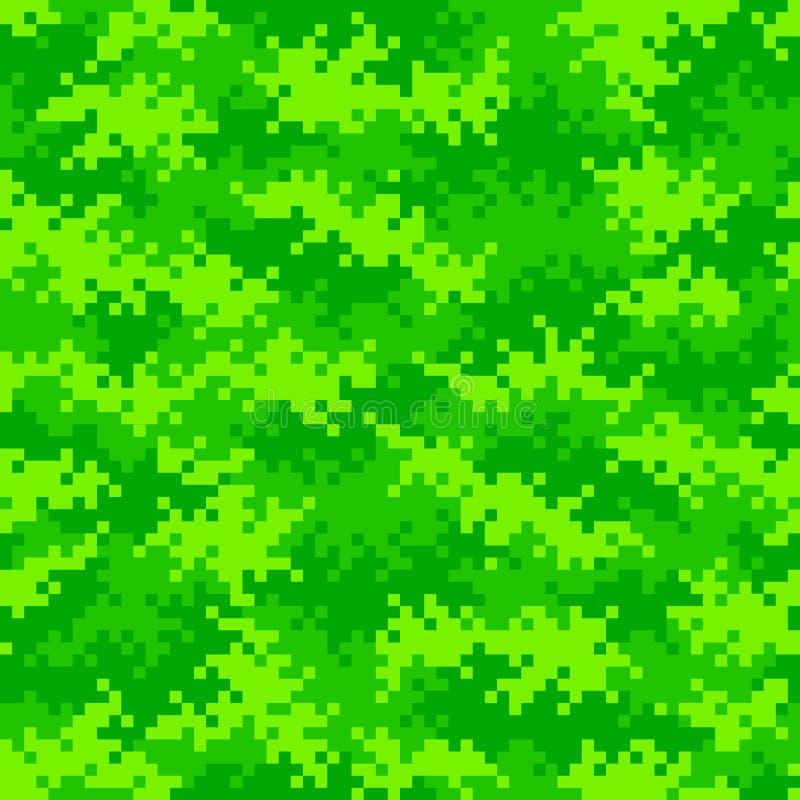 Неоновая зеленая картина пиксела камуфлирования плавно tileable стоковые фото