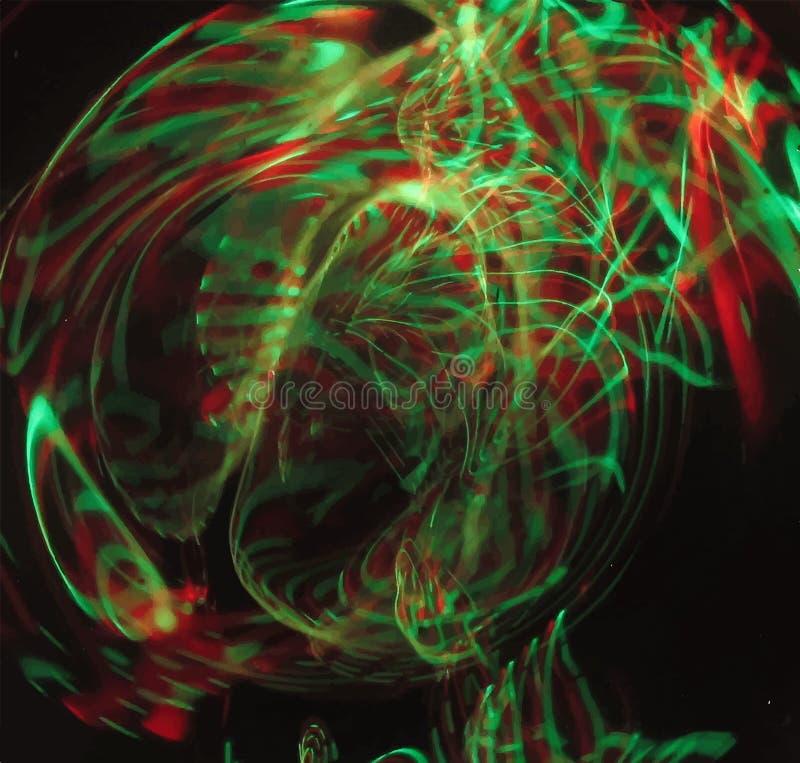 Неоновые абстрактные линии конструируют на темной предпосылке иллюстрация штока