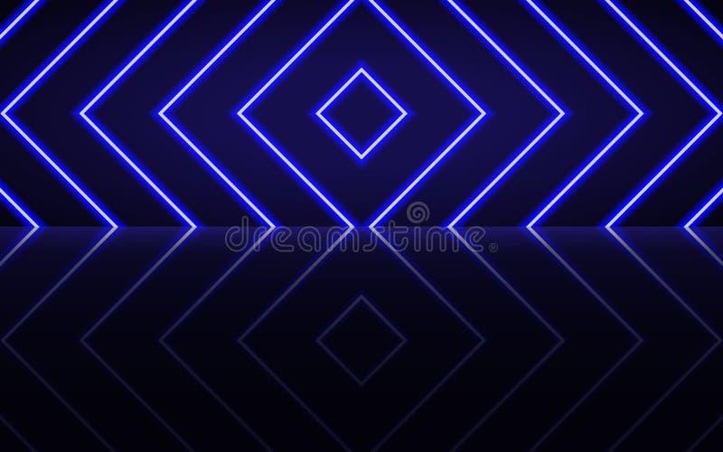 Неоновые накаляя линии, волшебная концепция света космоса энергии иллюстрация штока