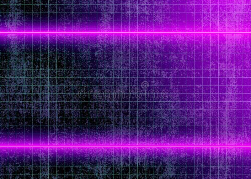 Неоновые света на грязной стене стоковое фото rf